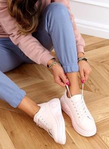 Różowe buty sportowe Buty Damskie