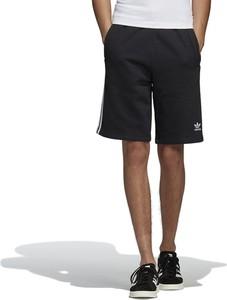 Czarne spodenki Adidas z bawełny