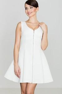 Sukienka LENITIF bez rękawów z okrągłym dekoltem