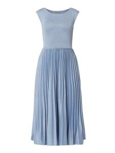 Sukienka Jake*s Collection midi z okrągłym dekoltem rozkloszowana