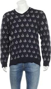 Niebieski sweter Guido Maria Kretschmer z okrągłym dekoltem