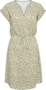 Sukienka Part Two z dekoltem w kształcie litery v w stylu casual z krótkim rękawem