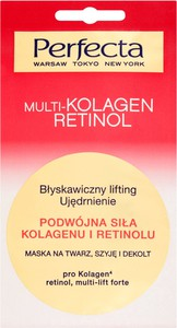 Perfecta Beauty Multikolagen Maska Błyskawiczny Lifting, Ujędrnienie