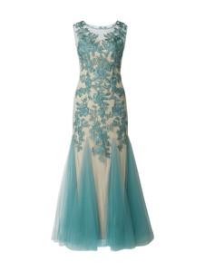a29de961e1 Niebieska sukienka Mascara maxi z tiulu z okrągłym dekoltem