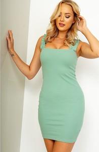 Zielona sukienka ZOiO.pl z bawełny mini dopasowana