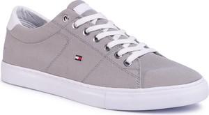 Sneakersy TOMMY HILFIGER - Seasonal Textile Sneaker FM0FM02687 Antique Silver PRT
