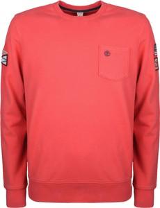 """Różowa bluza Timberland Bluza """"eastham"""" z tkaniny"""