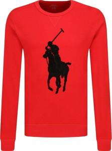 Czerwona bluza POLO RALPH LAUREN z wełny z nadrukiem