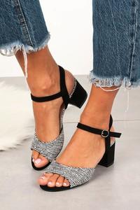 Czarne sandały Sergio Leone z klamrami