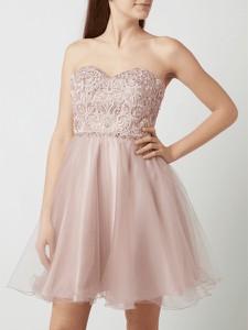 Różowa sukienka Laona rozkloszowana