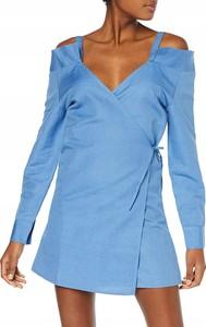 Sukienka Glamorous mini w stylu casual z dekoltem w kształcie litery v