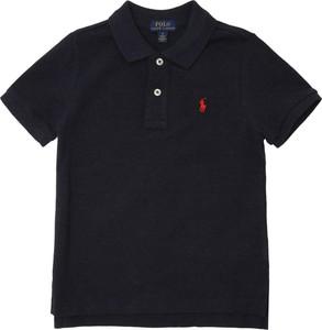 Granatowa koszulka dziecięca POLO RALPH LAUREN z dżerseju