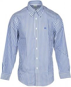 Niebieska koszula Brooks Brothers z klasycznym kołnierzykiem z bawełny