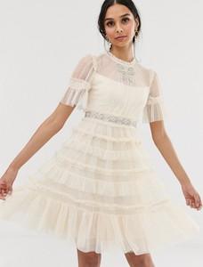Sukienka Needle & Thread z krótkim rękawem oversize