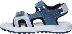 Granatowe buty dziecięce letnie Geox na rzepy