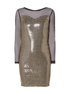 Sukienka Dorothy Perkins z długim rękawem w stylu glamour z okrągłym dekoltem