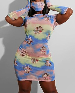 Sukienka Kendallme z krótkim rękawem mini w stylu casual