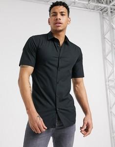 Czarna koszula Only & Sons z krótkim rękawem