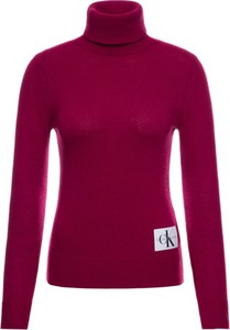 Różowy sweter Calvin Klein w stylu casual