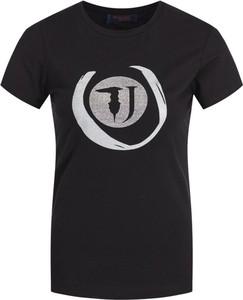 T-shirt Trussardi Jeans z okrągłym dekoltem z krótkim rękawem