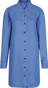 Sukienka Tommy Jeans z długim rękawem w stylu casual koszulowa