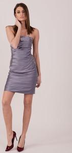 Sukienka Sheandher.pl gorsetowa na ramiączkach z dekoltem w kształcie litery v