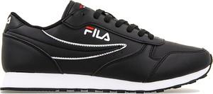 Czarne buty sportowe Fila w street stylu sznurowane