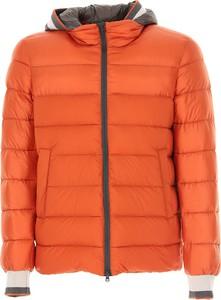 Pomarańczowa kurtka Herno w stylu casual