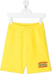 Żółte spodenki dziecięce Dsquared2