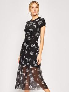 Sukienka Desigual prosta z krótkim rękawem maxi