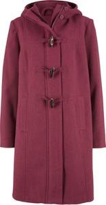 Czerwony płaszcz bonprix bpc bonprix collection z wełny