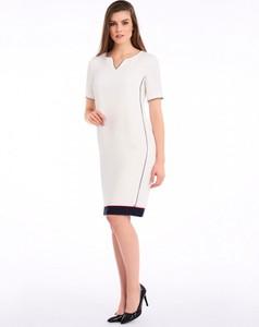 Sukienka POTIS & VERSO mini prosta z krótkim rękawem