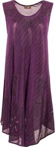 Fioletowa sukienka Coline z okrągłym dekoltem mini