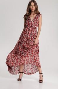 Czerwona sukienka Renee w stylu boho