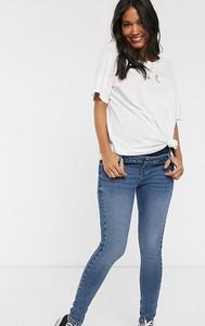 Urban Bliss Maternity — Niebieskie obcisłe jeansy z wysokim stanem