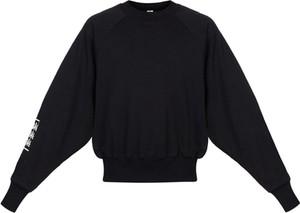 Czarna bluza Robert Kupisz w młodzieżowym stylu z nadrukiem z bawełny
