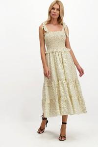Sukienka Lavard midi z okrągłym dekoltem trapezowa