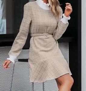 Sukienka Miandmolly z golfem z długim rękawem