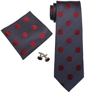 Landisun Land isun 66 W zestaw Polka Dots golenia jedwabny krawaty - l