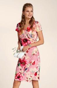 Sukienka Cellbes z krótkim rękawem midi kopertowa