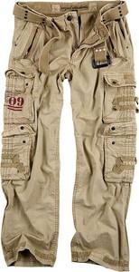 Brązowe spodnie Surplus z bawełny