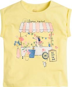 Żółta koszulka dziecięca Cool Club bez rękawów