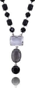 POLSKA Naszyjnik z kryształkami w kolorach czarnym szarym i przezroczystym
