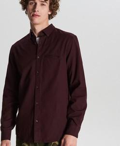 Czerwona koszula Cropp z kołnierzykiem button down