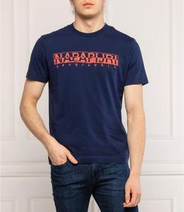 T-shirt Napapijri w młodzieżowym stylu z krótkim rękawem