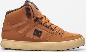 Pomarańczowe buty zimowe DC Shoes sznurowane