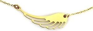 Lovrin Złoty naszyjnik 585 celebrytka skrzydełko 14kt