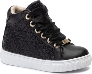 5826dc2d Czarne buty dziecięce zimowe Guess sznurowane