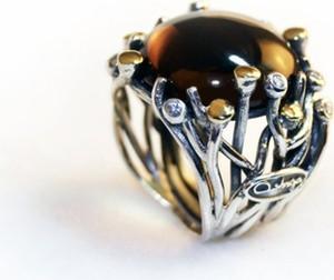 92bd404ab140ac Oryginalny artystyczny srebrny pierścionek - Astorga