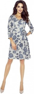Sukienka Bergamo w stylu casual z długim rękawem